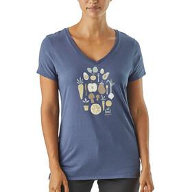 Patagonia W's Harvest Haul Organic V-Neck T-Shirt Dolomite Blue